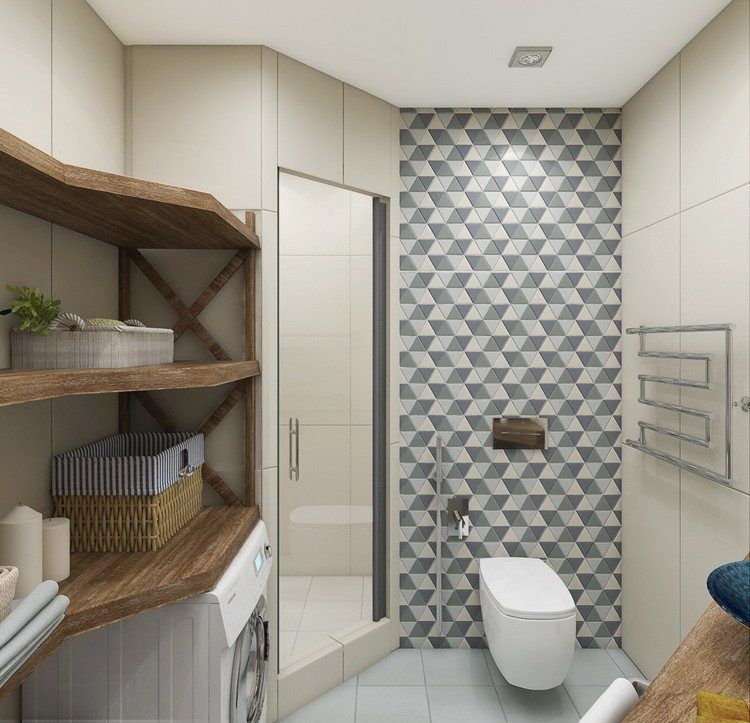 aménagement-petite-salle-bain-style-scandinave | Mini salle de bain ...
