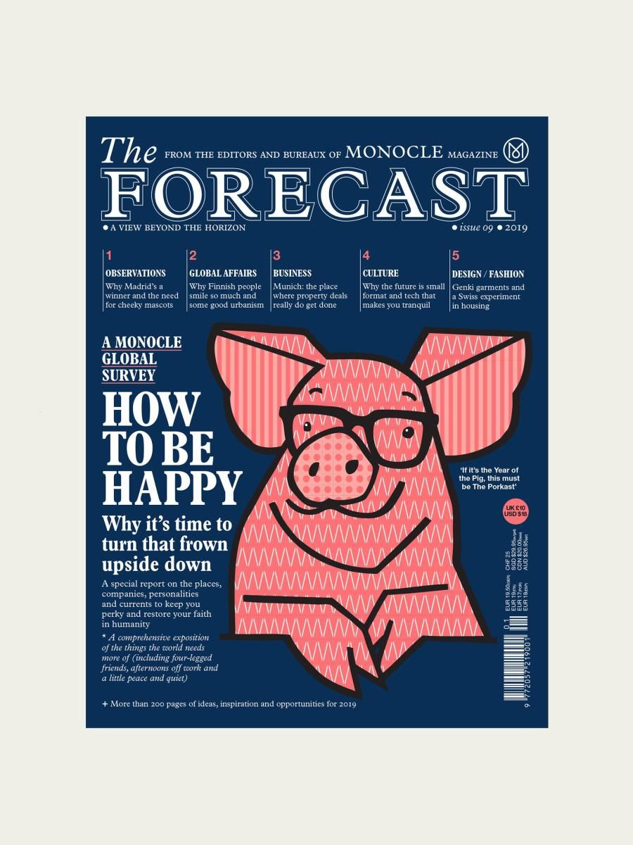 Monocle releases its issue of The Forecast for 2019 ...