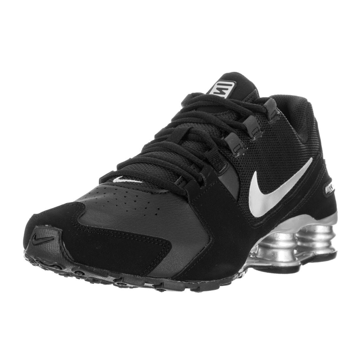 Nike Kids' Shox Avenue (GS) Black/Metallic Silver Running Shoes by Nike