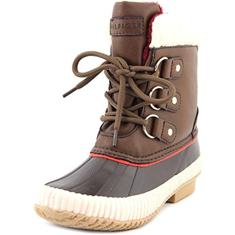 Tommy Hilfiger Ebonie Women US 11 Brown Winter Boot, Medium Brown