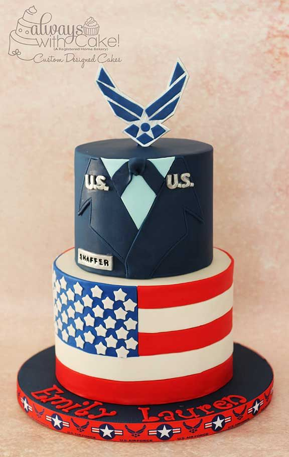 Air Force And Forth Of July Cake With Images Air Force Wedding