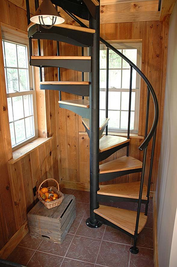 Salter Spiral Stair Tiny House Stairs Staircase Design Spiral | Spiral Staircase Wooden Steps | 2 Floor | Traditional | Enclosed | Kid Friendly | Solid