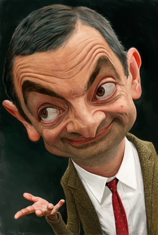 Mister Bean En Un Dibujo Muy Divertido Caricature Artist Celebrity Caricatures Caricature