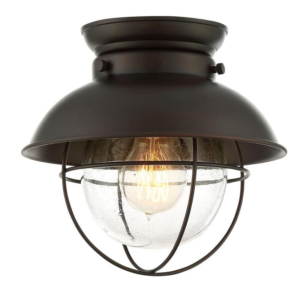 Filament Design 1Light Oil Rubbed Bronze Flush Mount