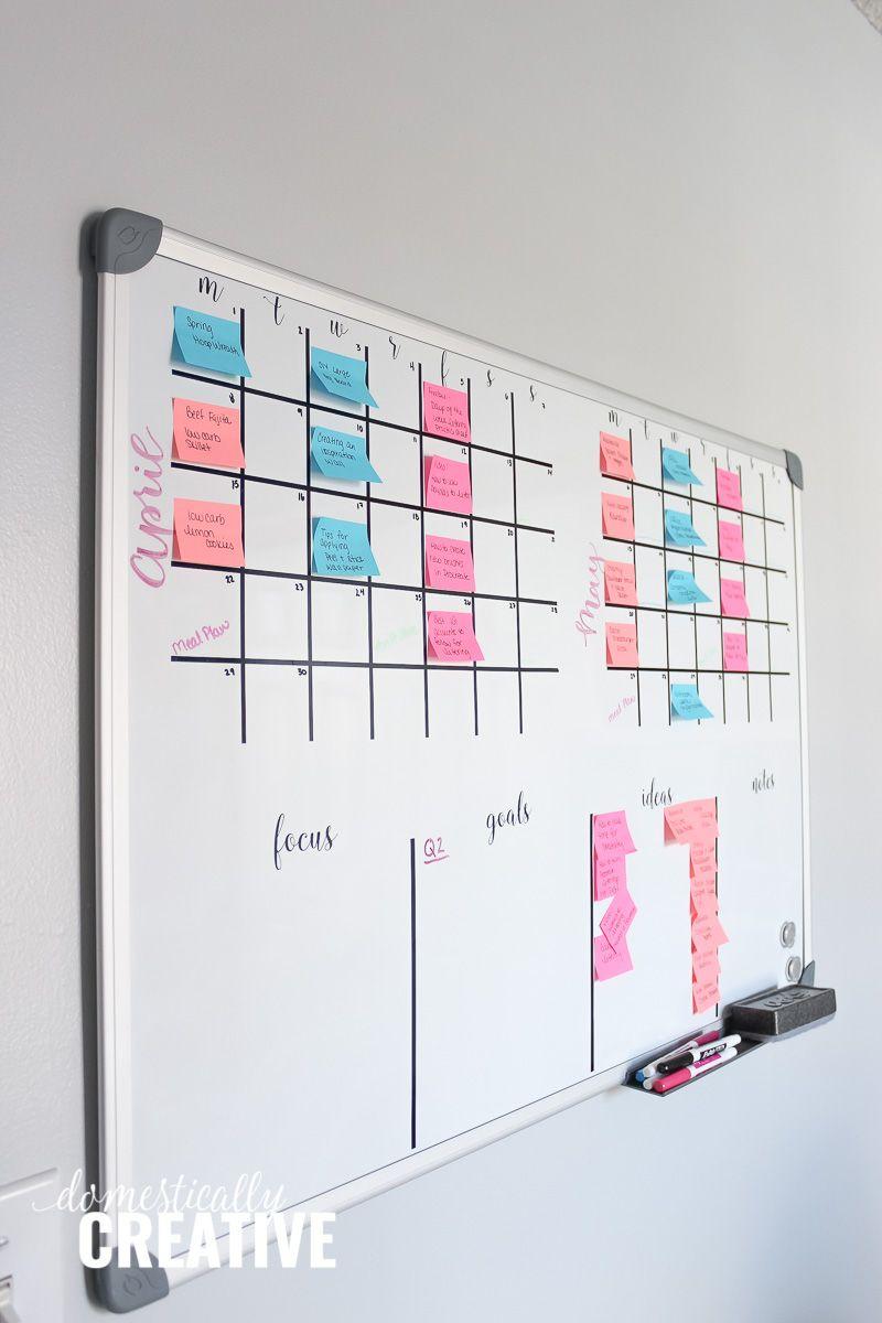 Diy Whiteboard Calendar And Planner Whiteboard Planner Diy