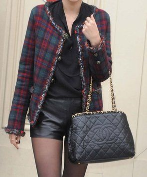 e79e0059e8ab64 Chanel Chain Me Around Grand Shopping Gst Cc Logo Medallion Quilted Leather  Calfskin Gold Hardware Link Ghw Timeless Black Tote Bag.