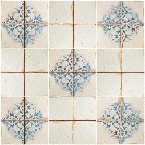 Artisanal 13 X 13 Ceramic Patterned Wall Floor Tile Ceramic Floor Wall Tiles Tile Floor