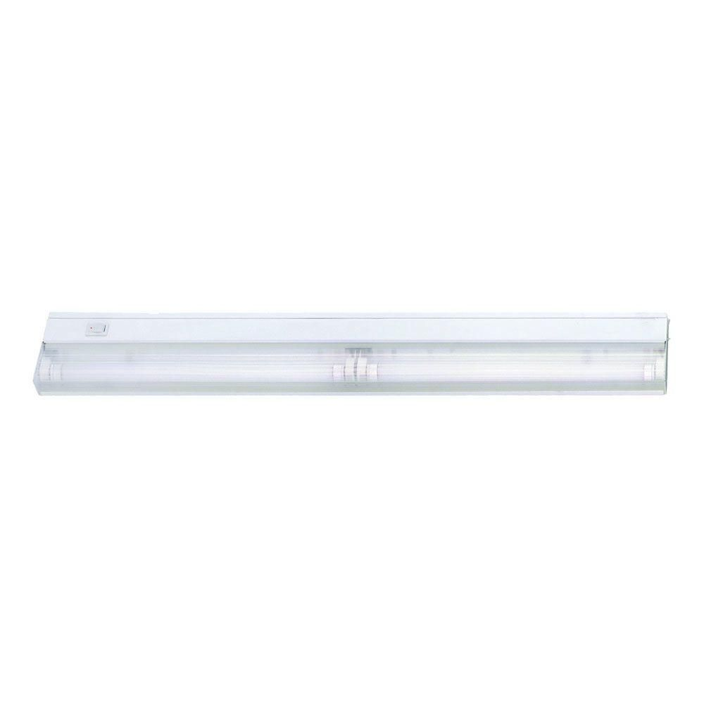 Acclaim Lighting 2-Light 24 in. White Fluorescent Under Cabinet ...