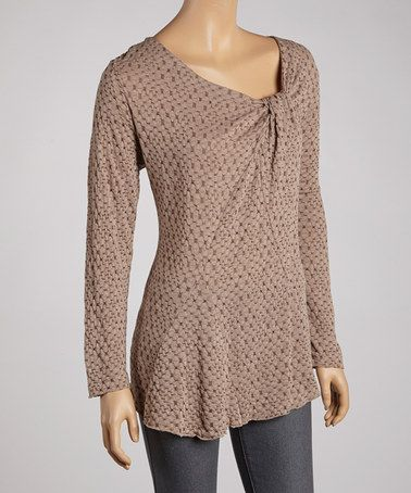 Another great find on #zulily! Coffee Gathered Top - Women by Zashi #zulilyfinds