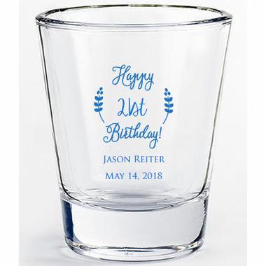 21st Birthday Favors Custom Shot Glasses Birthday Shots 60th