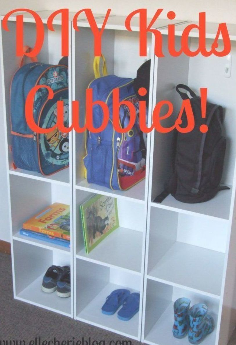 Need Somewhere To Store Kids School Bags Shoes Coats And Hats Read On To Find Out My Simple Solution By Using A Booksh Diy For Kids Kids Design Kids Cubbies