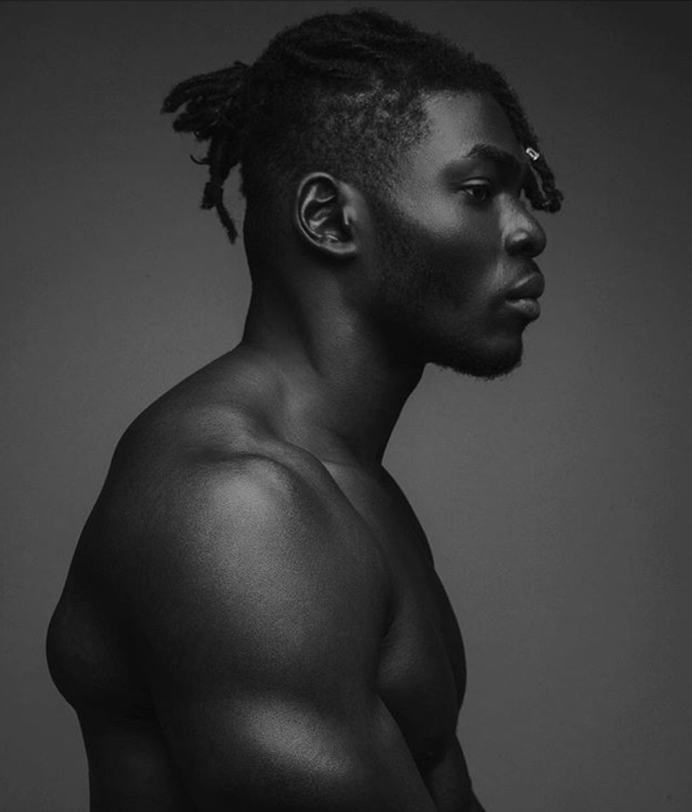 Profile Black Guy On Haunches Google Search Male Profile Face Profile Black And White Man