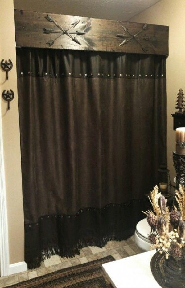 Love This Idea For Rustic Bathroom Decor Shower Curtains Industry Standard Design Rusticfurn Rustic Bathroom Decor Rustic Bathroom Designs Cheap Home Decor