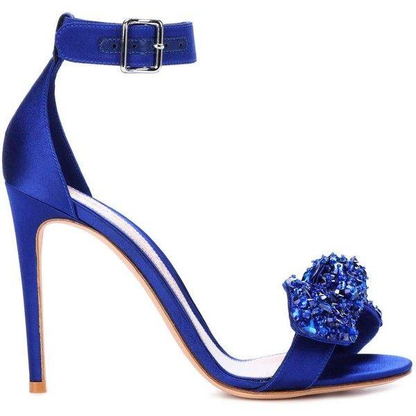 Crystal-embellished satin sandals Alexander McQueen FO1uks