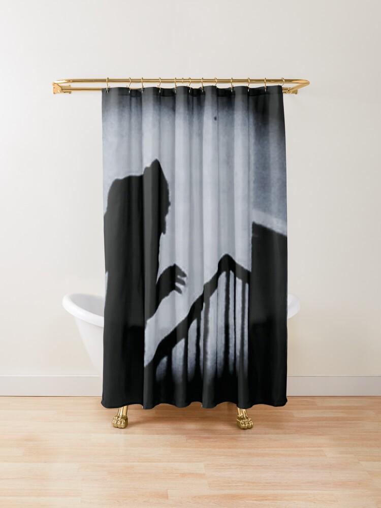 Nosferatu Classic Horror Movie Shower Curtain By Creepyhollow In