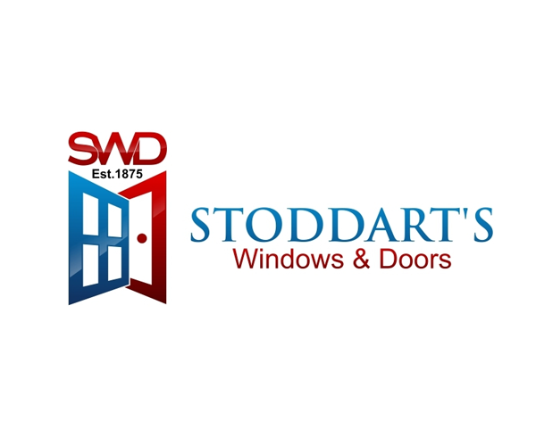 stoddarts windows and doors logo design jellyfish