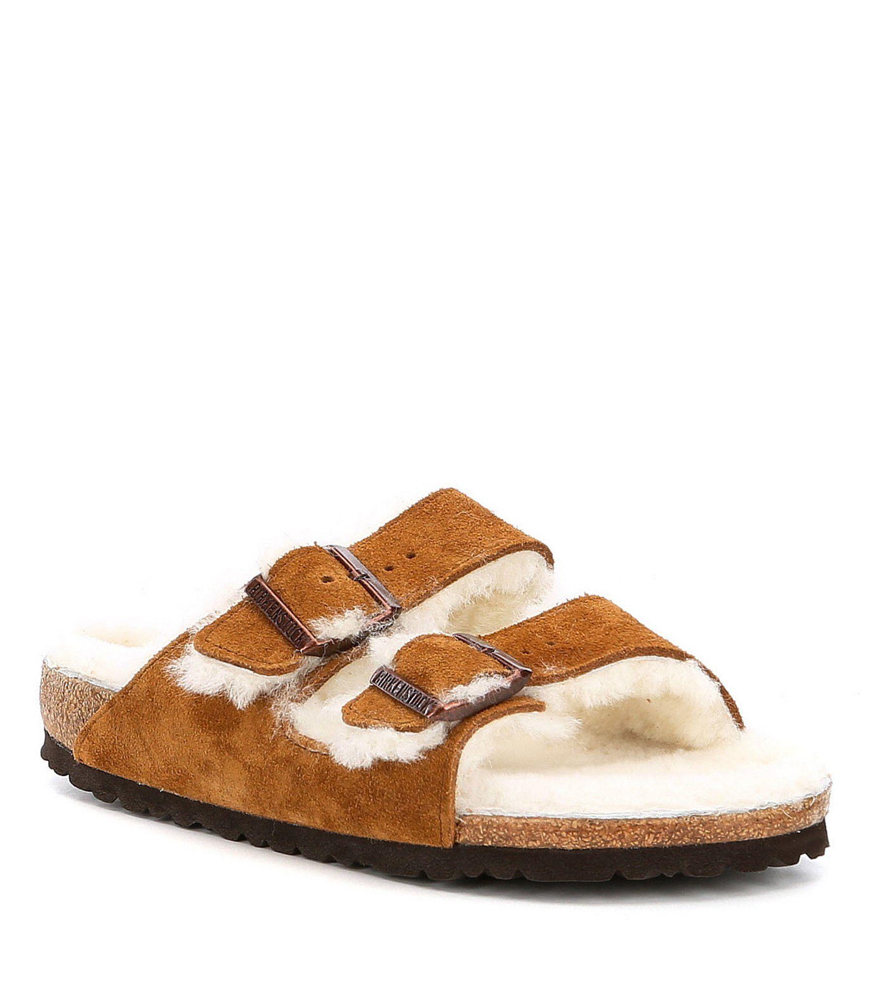 Arizona Suede Shearling Sandals