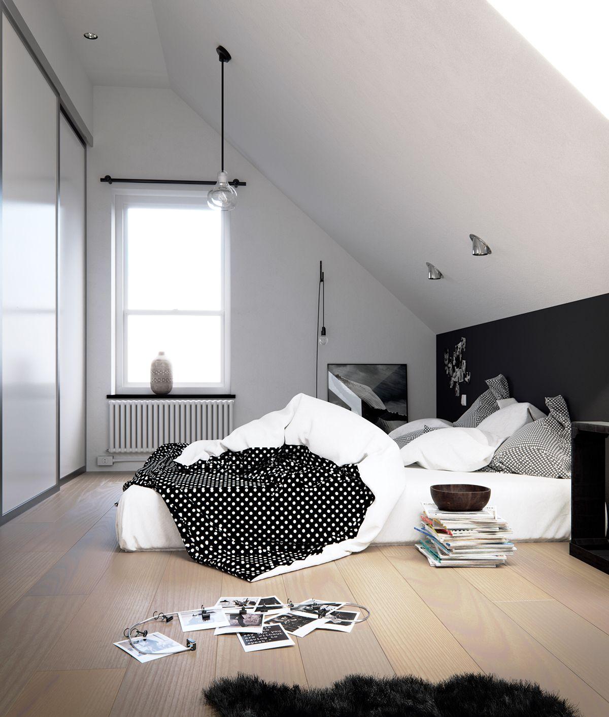 Pin Von Sao Smilezaa Auf ห องนอน Schlafzimmer Dachschrage