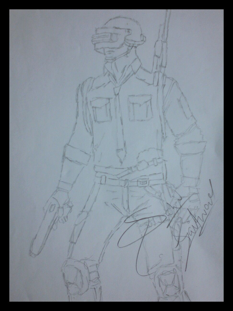 Pubg Drawing By Sahil In 2019 Sketches Art Sketches