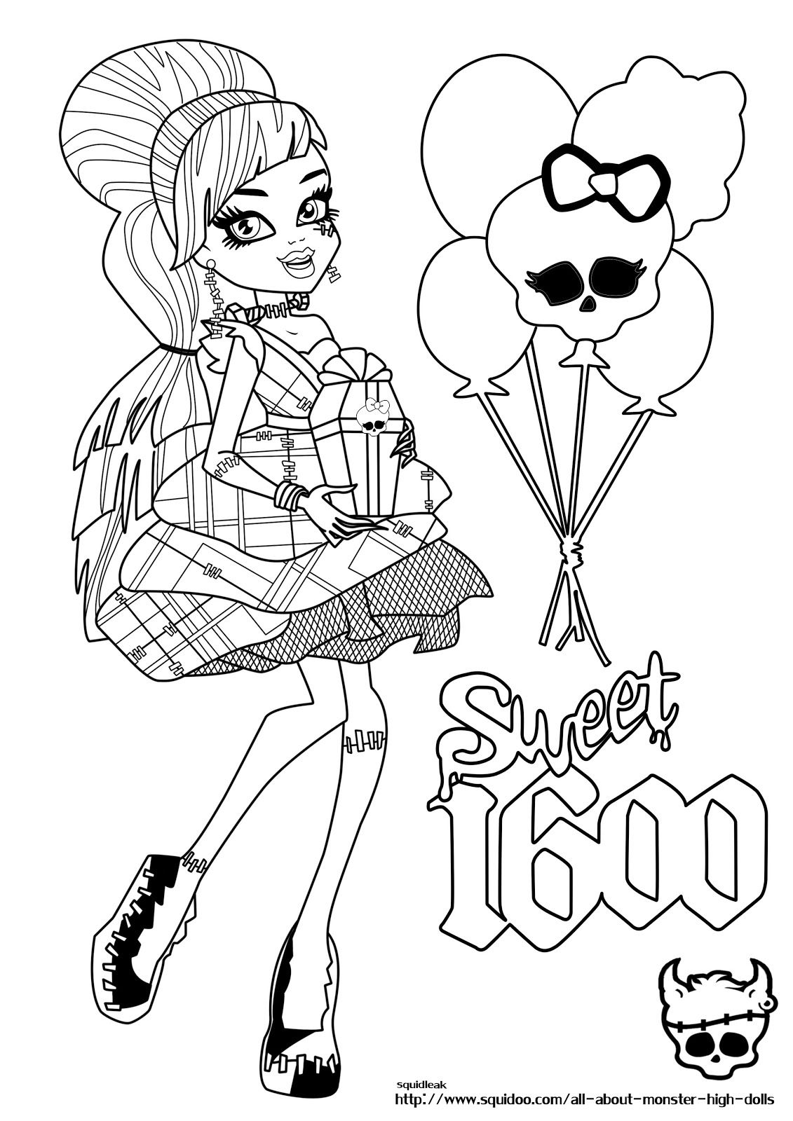 Coloring Pages Monster High Coloring Pages Frankie Stein 1000 images about monster high bday party on pinterest coloring pages logos and wolves