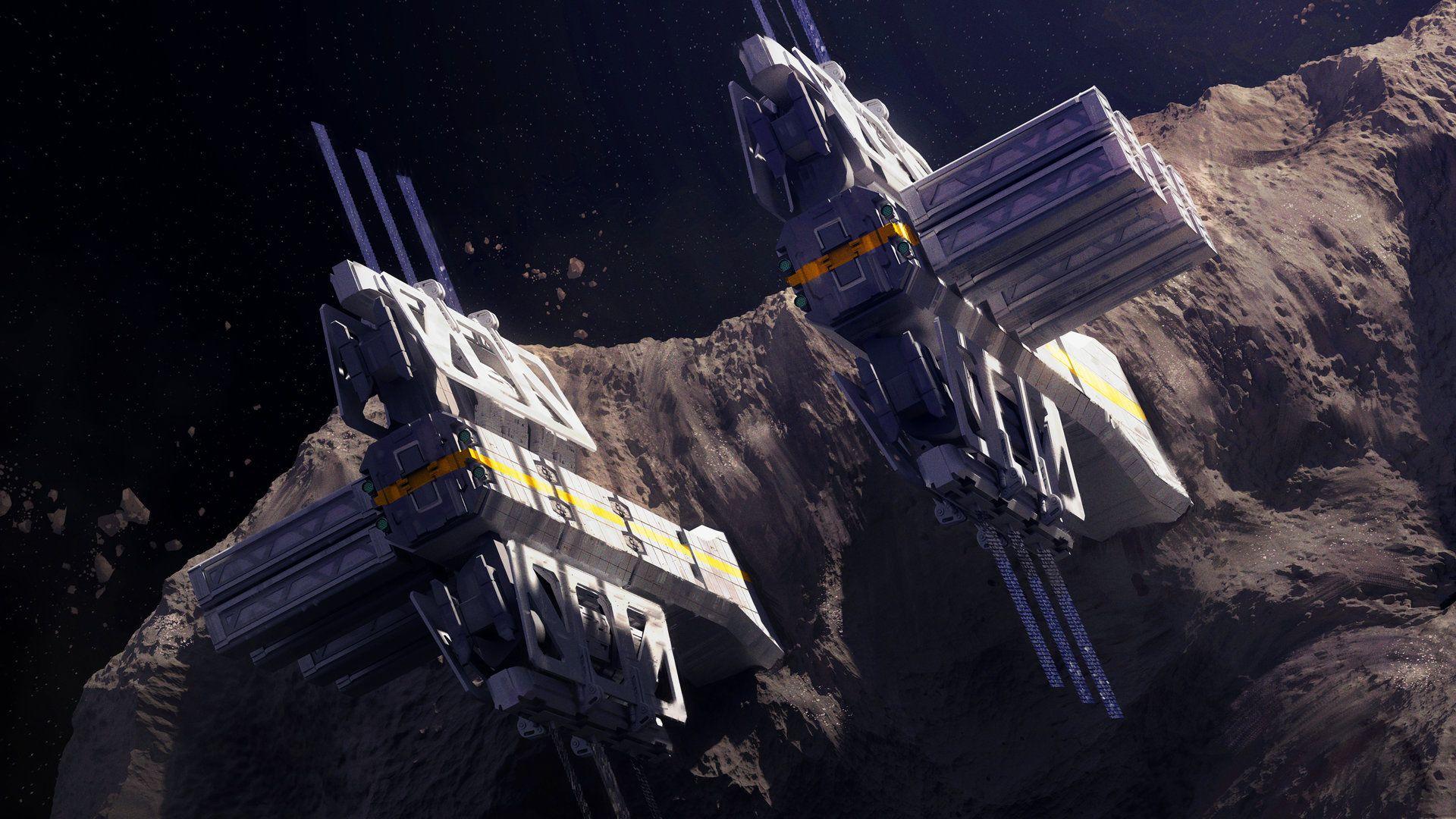 Asteroid Station by Brandon Hahn on ArtStation ...