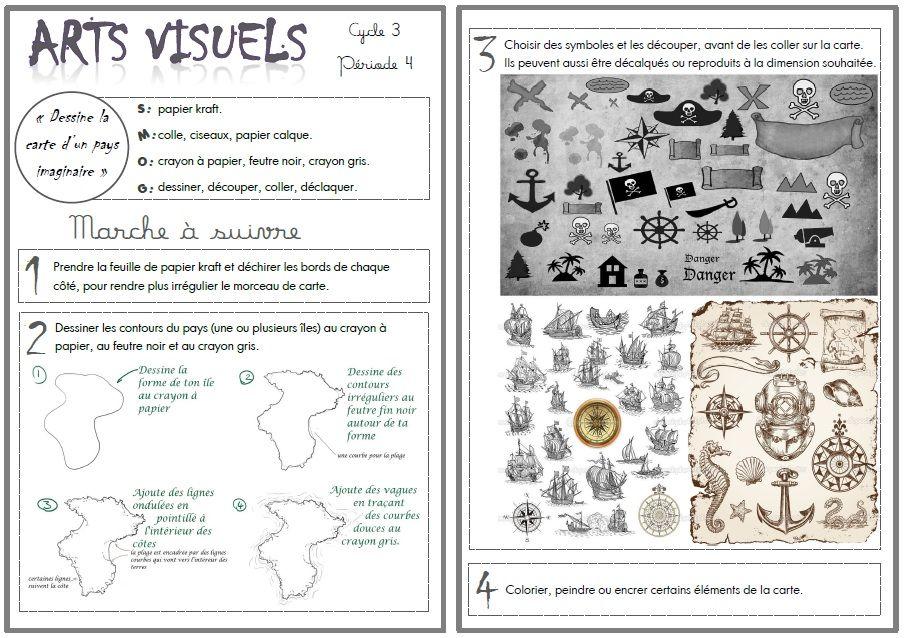 Arts visuels  faire une carte d\u0027un pays imaginaire - Poser Papier A Peindre