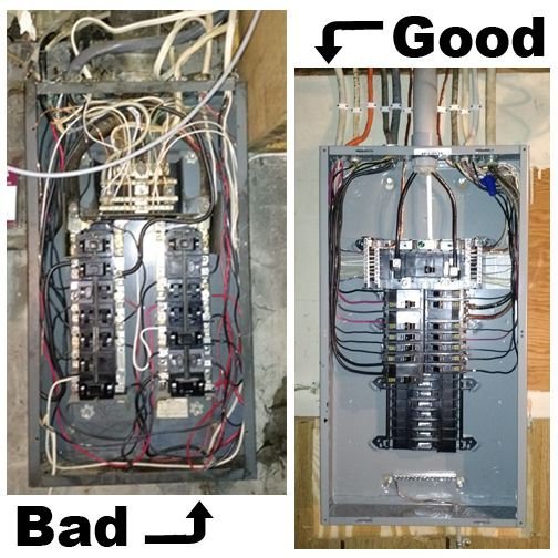 bad electrical wiring photos wiring diagram technicgood vs bad electrical panel picture drucks work furnacegood vs bad electrical panel picture