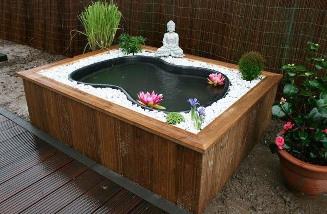 Bassin Poisson Hors Sol modern backyard fish pond garden landscaping ideas | jardin