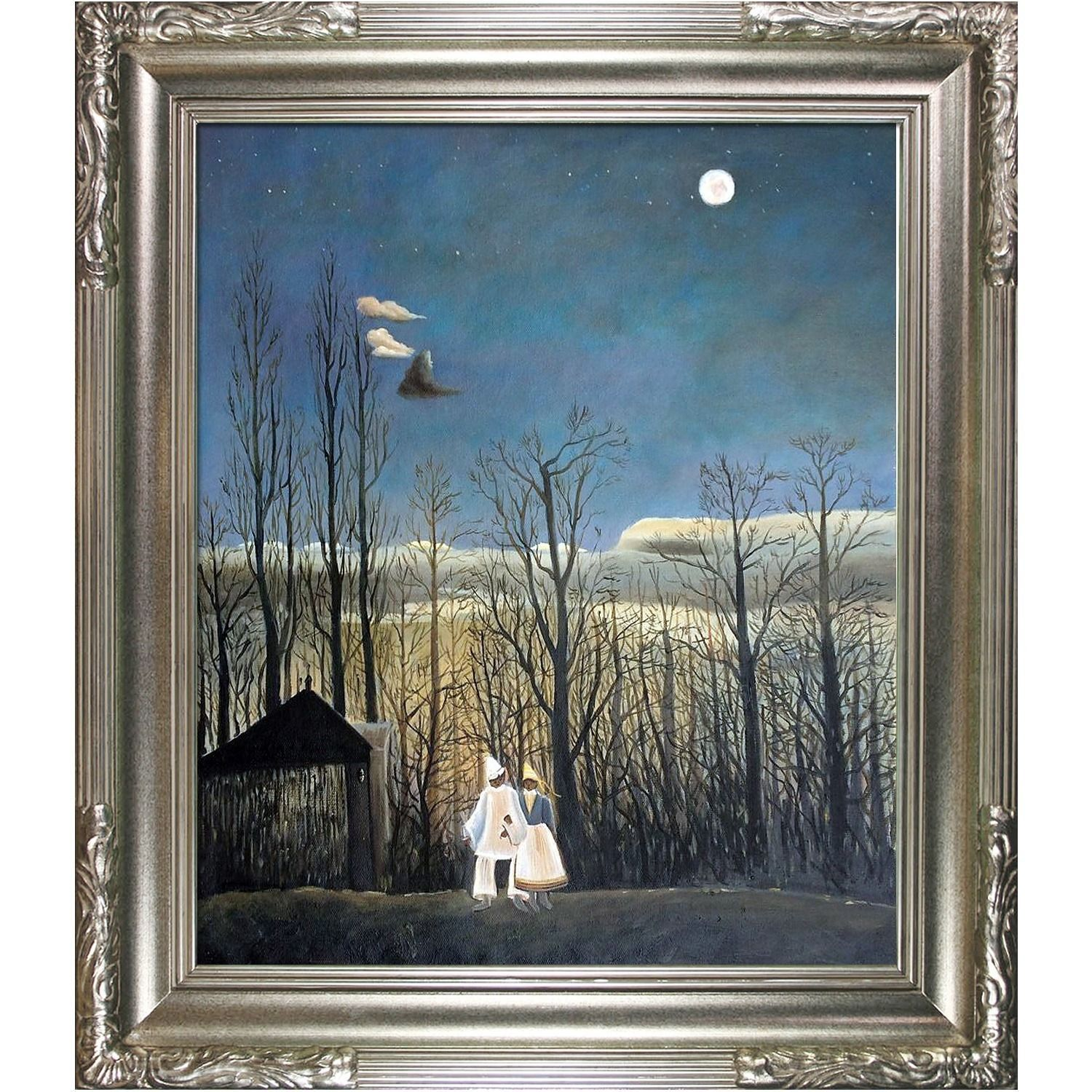 Henri Rousseau 'A Carnival Evening' Hand Painted Framed Art