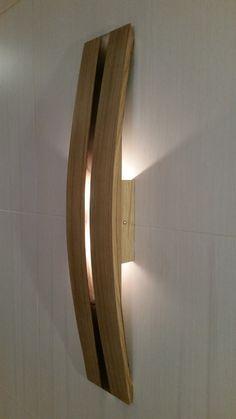 HECHO para orden dos pared lámpara led apliques en roble de