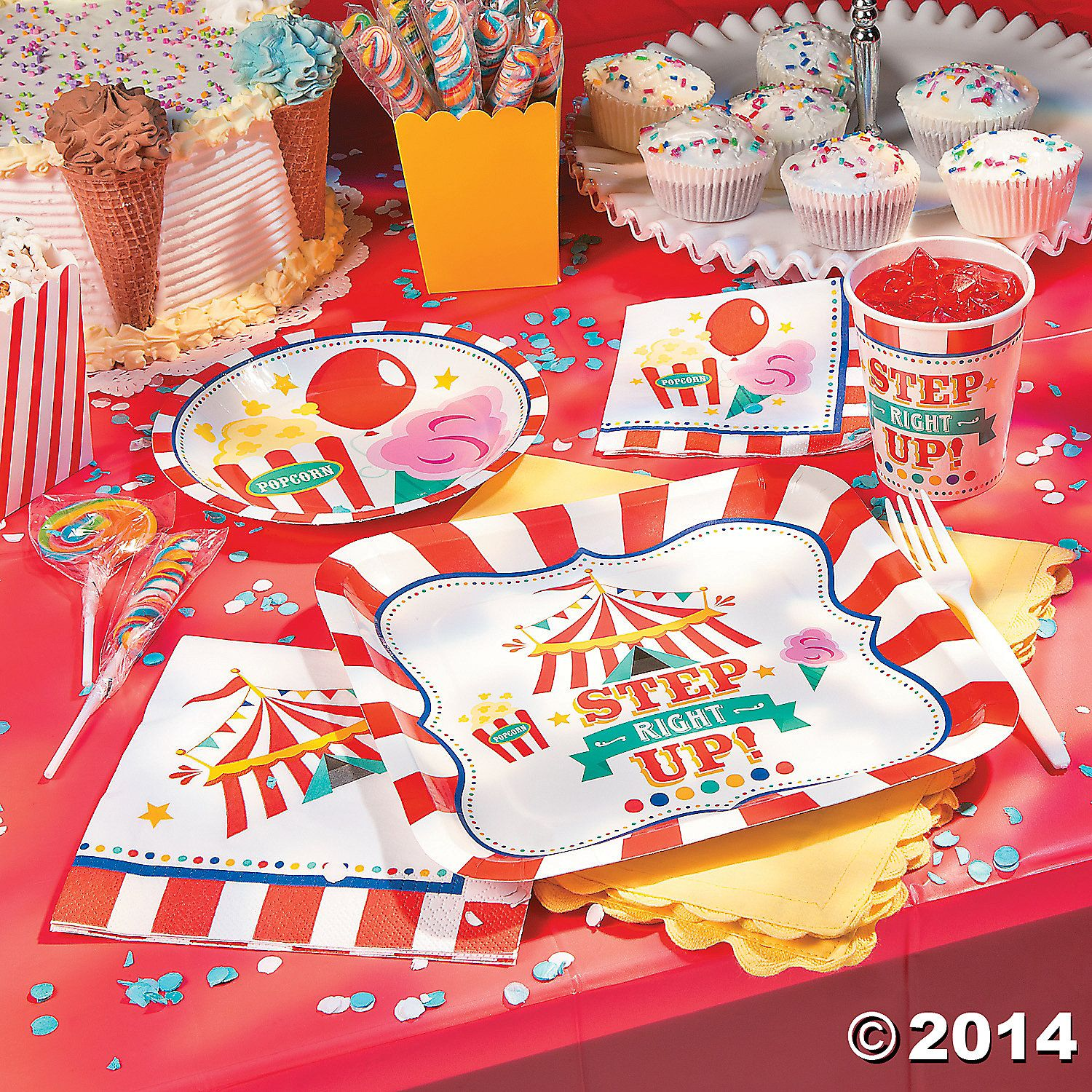 Perfect for your sideshow celebration these Carnival Dessert Plates are ready for some sweet snacks! Keep these paper plates on hand at your carnival .  sc 1 st  Pinterest & Carnival+Dessert+Plates+-+OrientalTrading.com | Party Theme Ideas ...