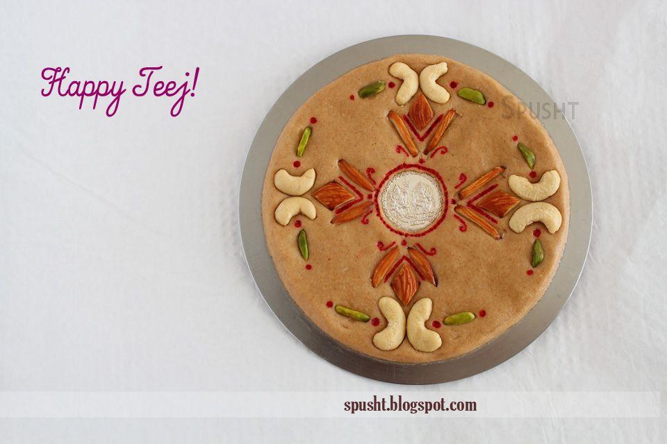 Spusht Rajasthani Sattu Badi Teej Sattu Food Decoration Mousse Recipes Easy Sweet Decoration
