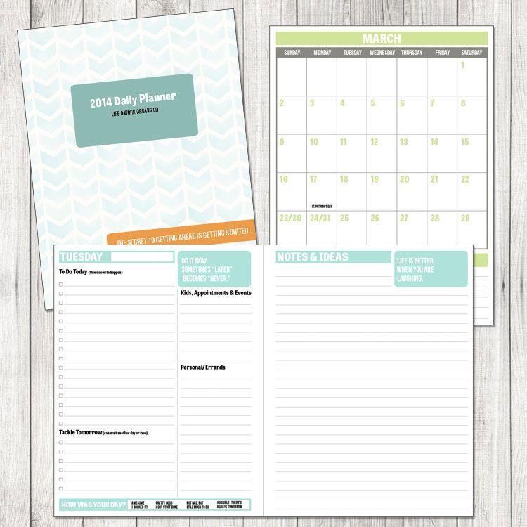 2014 daily planner printable daily planner printable