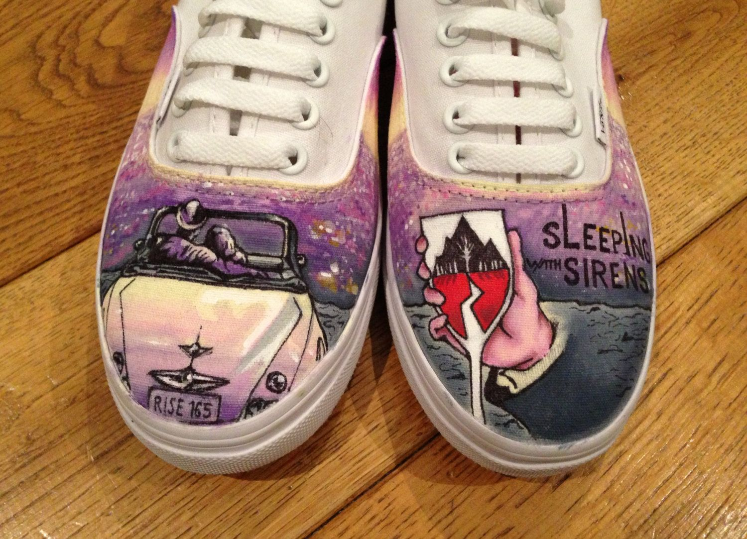 Sleeping With Sirens Fan Art - Viewing Gallery | Canvas shoes ...