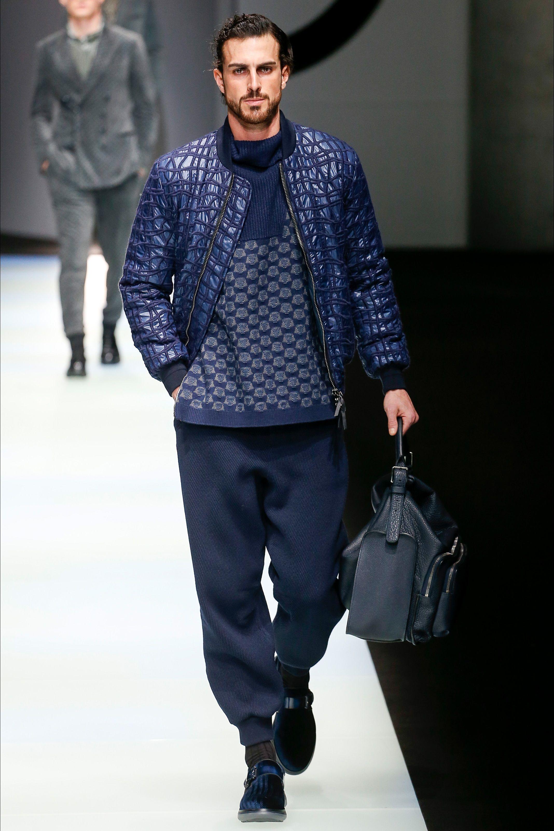 Sfilata Moda Uomo Giorgio Armani Milano Autunno Inverno c4993f5a166