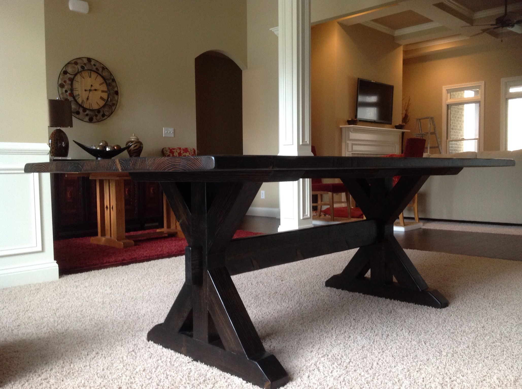 Farmhouse Trestle Table By Brothers Furniture Design Rustic Designs For Less Contact Brothersfurnituredesigns Gmail More Information