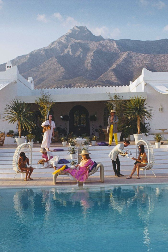 What To Wear To a Slim Aarons Party in Spain Slim aarons