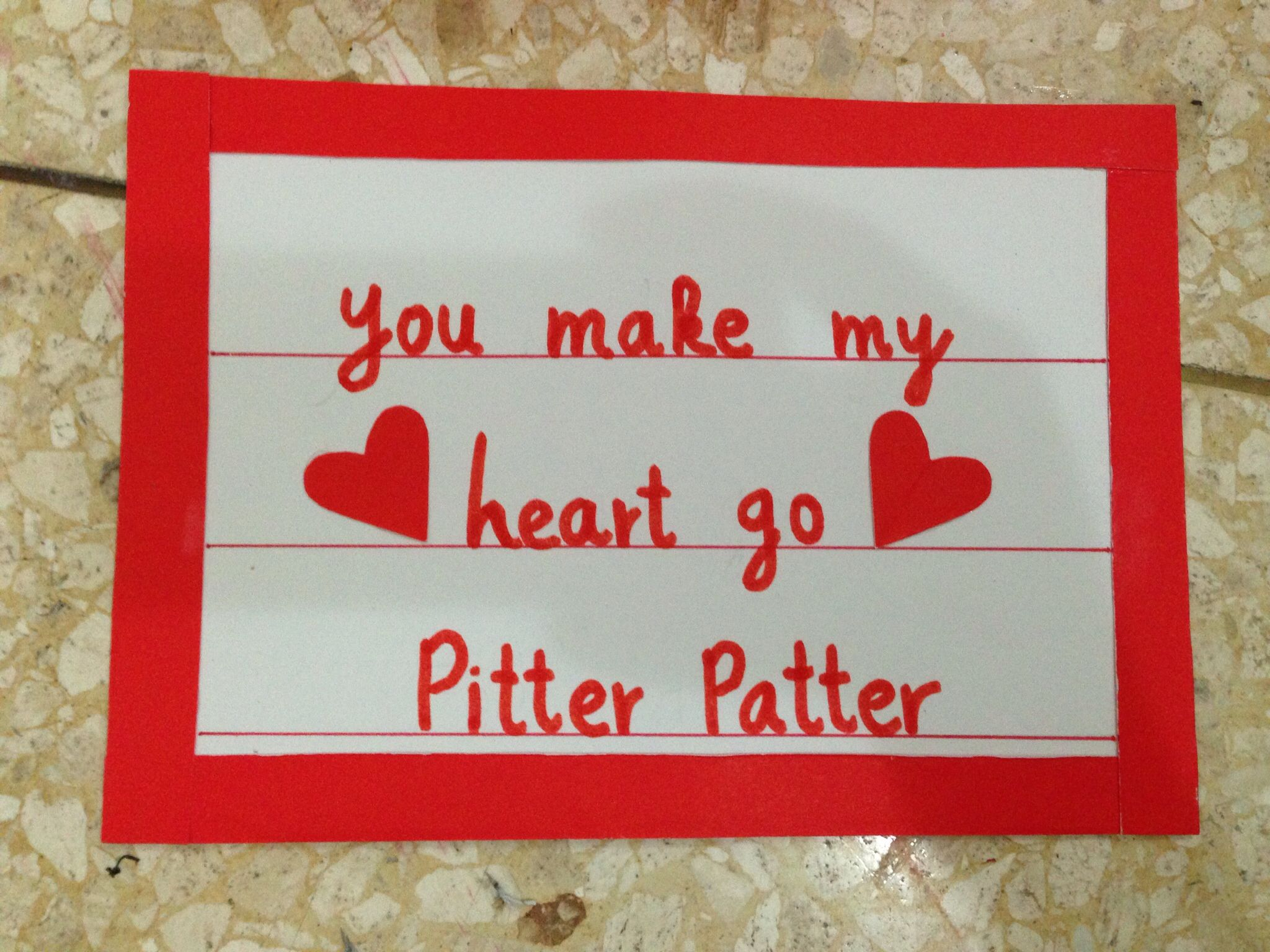 Image result for pitter patter love
