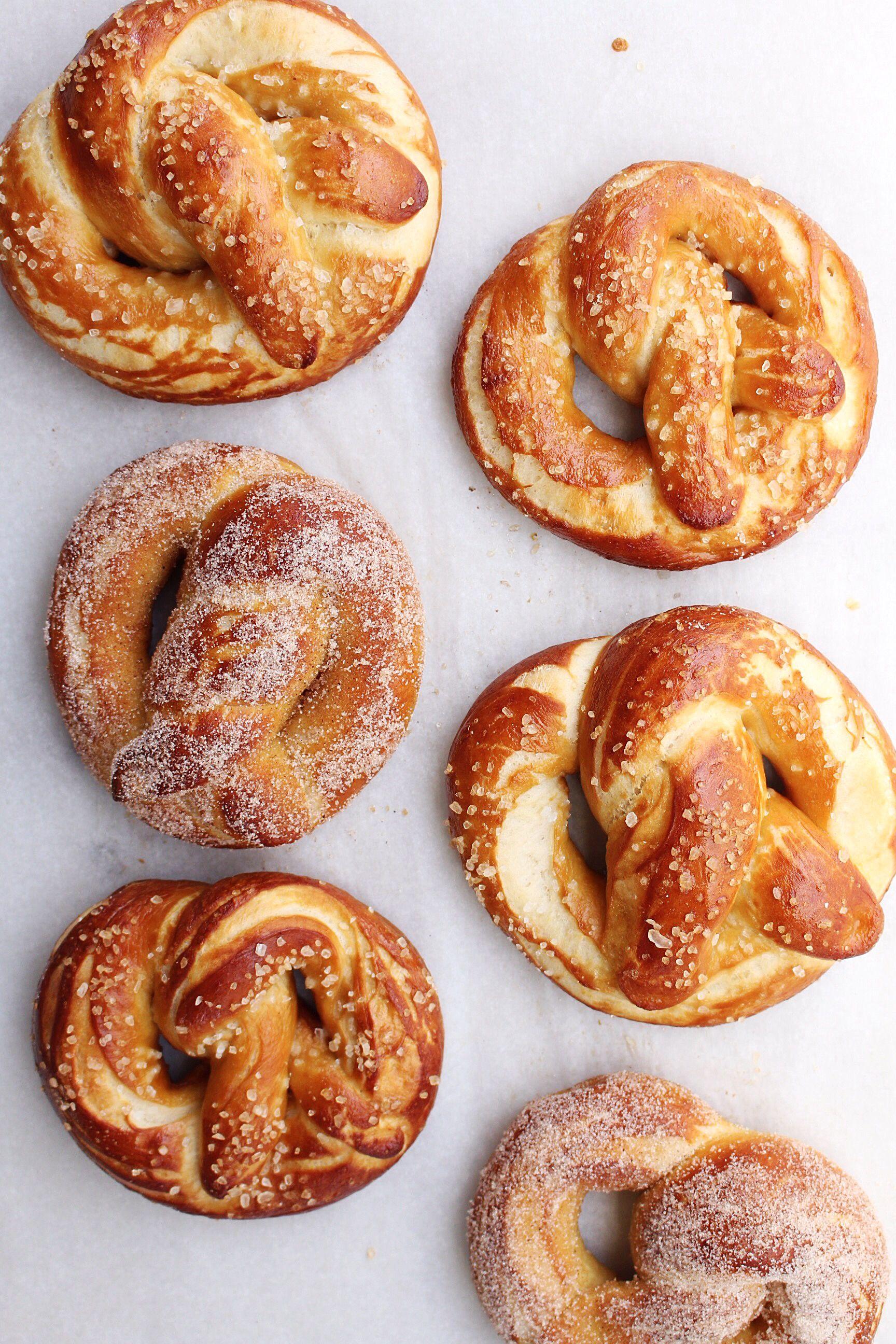 Pretzels Two Ways Homemade soft pretzels, Food, Soft