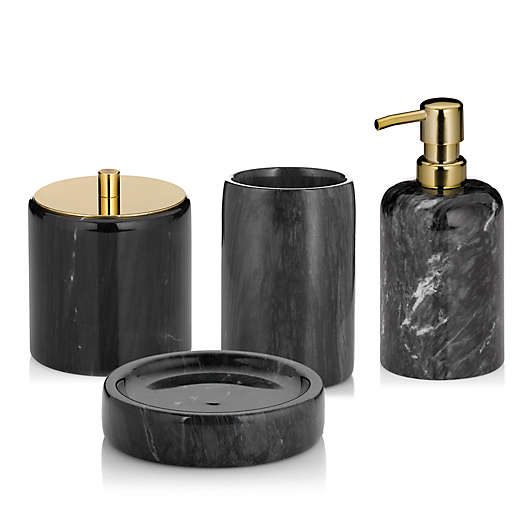 Black Bathroom Accessory Sets Bed Bath Beyond Black Bathroom