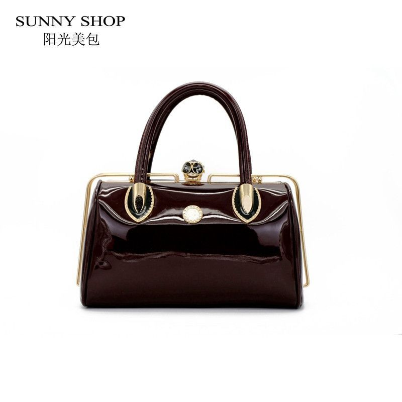 SUNNY SHOP Socialite Skull Diamonds Women Bag Shinny Crystal Evening Bag Bride Tote Bag Elegant Women Wedding Handbags Party Bag