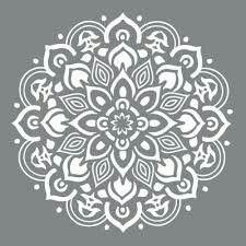 Free Mandala Stencil Printable Stencil Patterns Stencils Printables Mandala Stencils