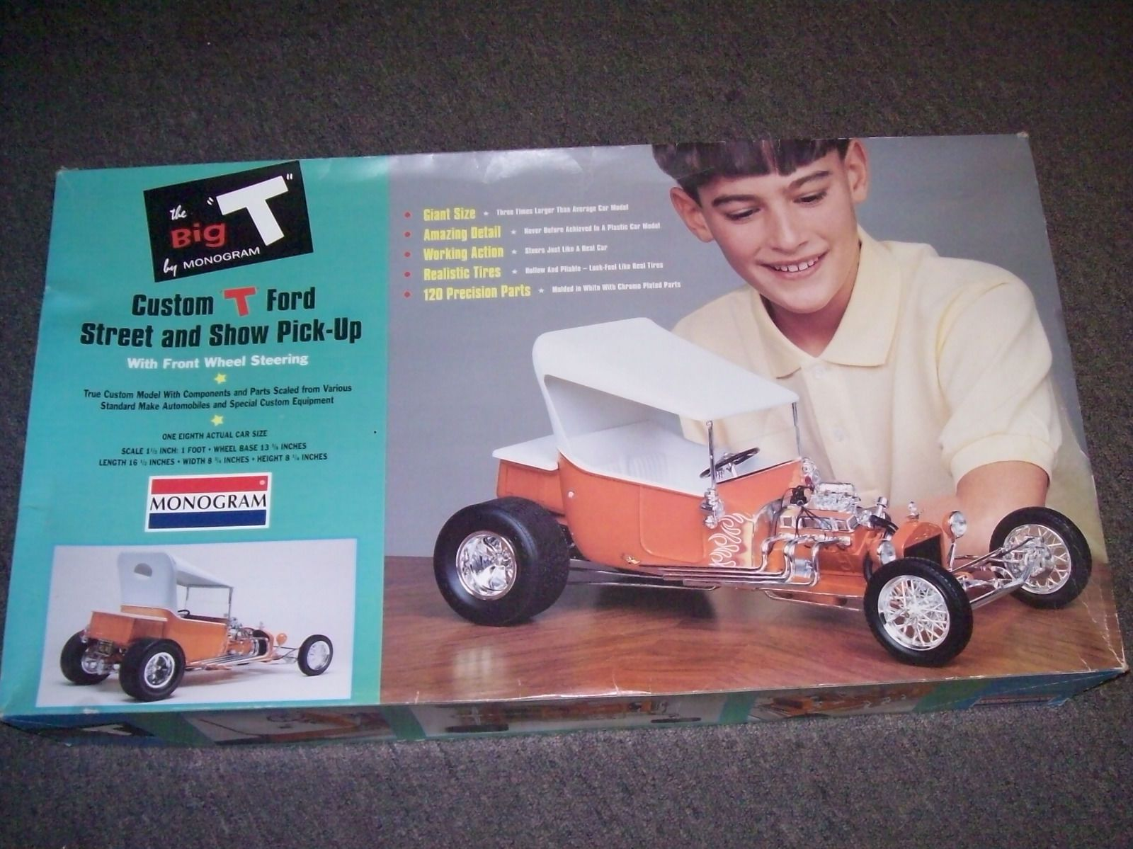 """Car Toys Aurora Co: 1999 Monogram 1/8 Scale The Big """"T"""" T Revell 85"""
