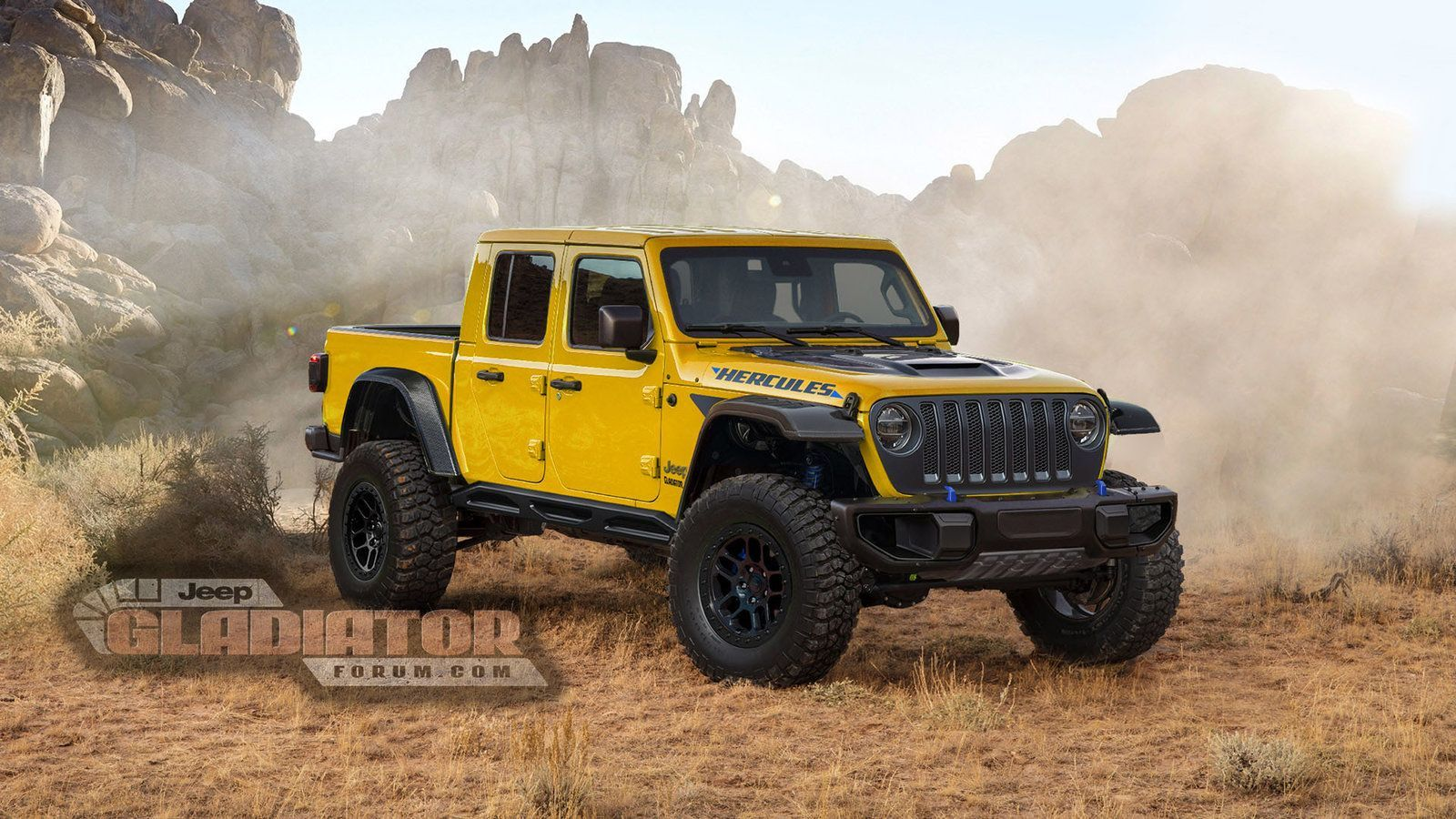 Is Jeep Building A Raptor Fighting Gladiator Pickup Autoweek Jeep Gladiator Jeep Jeep Pickup Truck