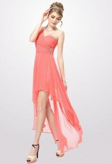 Robe de cocktail corail pas cher