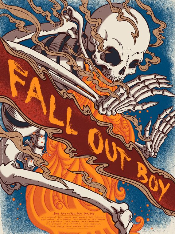 Fall Out Boy Official Limited Edition Screen Printed