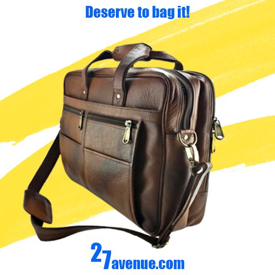 Deserve to Bag it! Elegant and suave Leather bags at 27avenue! Get a 25% off on purchase of total Rs. 2500 or more (Coupon Code: LBO0025). Check more on bit.ly/1nZ2N52
