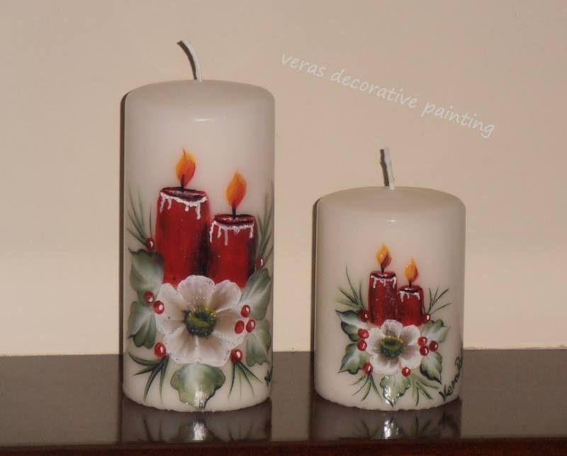 Candles Painting Kerze Kunst Kerzen Gestalten