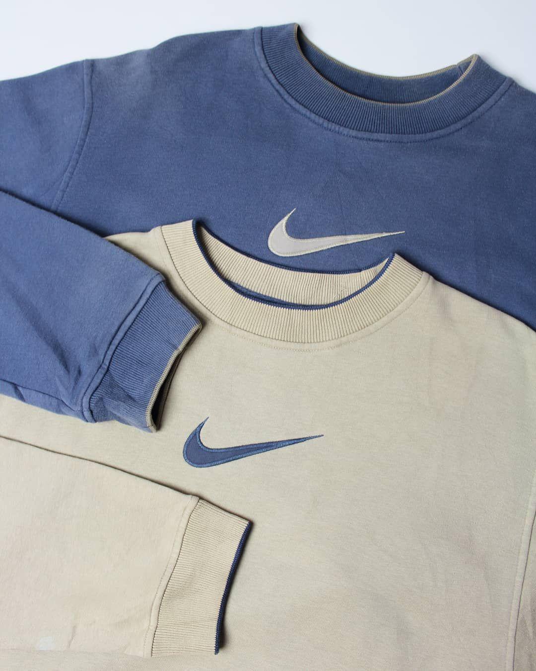 M21 Vintage On Instagram Central Swoosh Nike Duo In Last Nights Restock In 2021 Vintage Nike Sweatshirt Streetwear Men Outfits Vintage Hoodies [ 1350 x 1080 Pixel ]