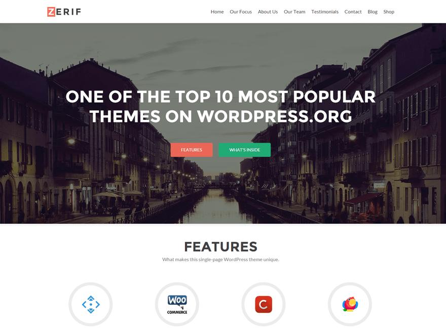 Download Free Zerif Lite Wordpress theme | Best Free Wordpress